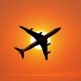Het vliegtuig van de luchtreis Royalty-vrije Stock Afbeeldingen