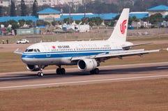 Het vliegtuig van de Luchtvaartlijnen van Air China Royalty-vrije Stock Foto's
