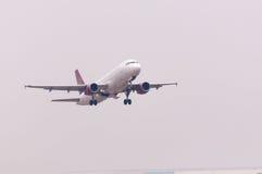 Het vliegtuig van de Luchtvaartlijnen van Juneyao Stock Foto