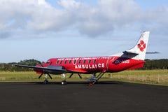 Het vliegtuig van de luchtziekenwagen Royalty-vrije Stock Foto's