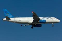 Het Vliegtuig van de Metrojetluchtbus A320 Royalty-vrije Stock Foto