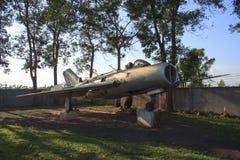 Het vliegtuig van de oorlog van Kambodja in Siem oogst oorlogsmuseum Royalty-vrije Stock Foto