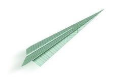 Het vliegtuig van de origami Royalty-vrije Stock Afbeelding