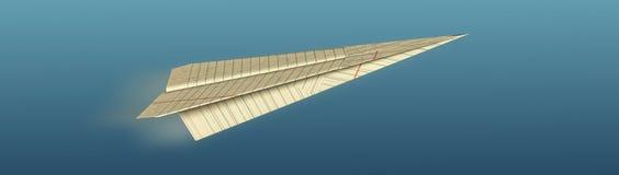 Het vliegtuig van de origami Stock Fotografie