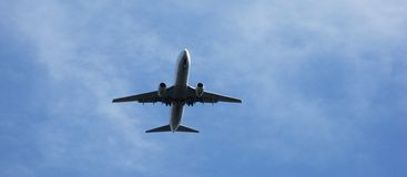 Het vliegtuig van de passagier Royalty-vrije Stock Foto's