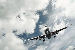 Het vliegtuig van de passagier het landen Royalty-vrije Stock Afbeelding