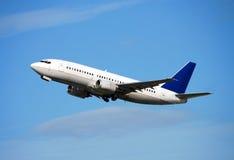 Het vliegtuig van de passagier tijdens de vlucht Royalty-vrije Stock Foto's