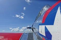 Het vliegtuig van de propellervechter Stock Foto's