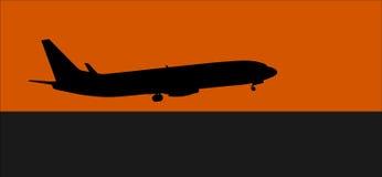 Het vliegtuig van de start Stock Foto's