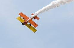 Het Vliegtuig van de stunt Stock Afbeeldingen