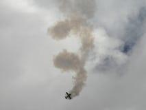 Het Vliegtuig van de stunt stock foto