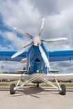 Het vliegtuig van de tweedekkerpropeller Stock Foto's
