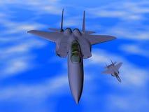 Het vliegtuig van de vechter Stock Fotografie