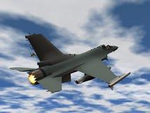 Het vliegtuig van de vechter Stock Afbeelding