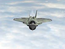 Het vliegtuig van de vechter in de hemel stock illustratie