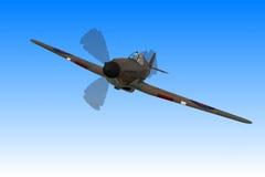 Het Vliegtuig van de Vechter van de orkaan vector illustratie