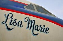 Het Vliegtuig van Elvispresley stock foto