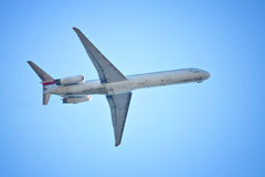 Het vliegtuig van Flyng Stock Foto