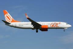 Het vliegtuig van GOL Linhas Aereas Boeing 737-800 Stock Foto's