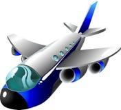 Het vliegtuig van het beeldverhaal royalty-vrije illustratie
