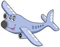 Het vliegtuig van het beeldverhaal Stock Afbeeldingen