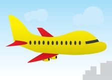 Het vliegtuig van het beeldverhaal Stock Afbeelding