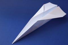Het vliegtuig van het document royalty-vrije stock afbeelding