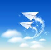 Het vliegtuig van het document vector illustratie