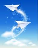 Het vliegtuig van het document royalty-vrije illustratie