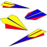 Het vliegtuig van het document Royalty-vrije Stock Afbeeldingen