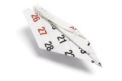 Het Vliegtuig van het Document van de kalender Stock Afbeelding