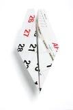Het Vliegtuig van het Document van de kalender Royalty-vrije Stock Foto's