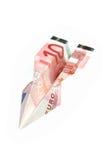 Het vliegtuig van het geld stock foto's