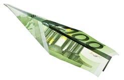 Het vliegtuig van het geld Stock Fotografie
