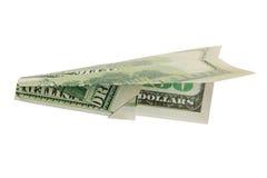 Het vliegtuig van het geld Royalty-vrije Stock Afbeeldingen