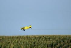 Het Vliegtuig van het gewassenstofdoek Stock Foto