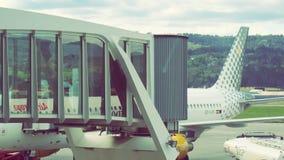 Het Vliegtuig van het luchthavenconcept Stock Fotografie