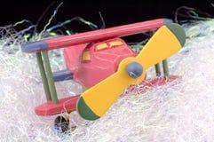 Het Vliegtuig van het stuk speelgoed stock afbeelding
