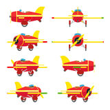 Het vliegtuig van het stuk speelgoed vector illustratie