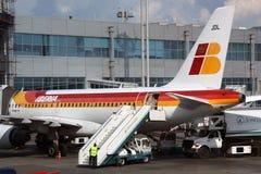 Het vliegtuig van IBERIA Stock Fotografie