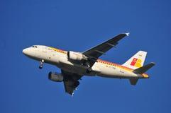 Het vliegtuig van IBERIA Royalty-vrije Stock Foto's