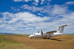 Het Vliegtuig van Safarilink stock foto