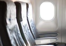 Het vliegtuig zit stock afbeeldingen