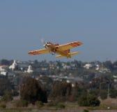 Het vliegtuigland van de afstandsbediening RC Royalty-vrije Stock Foto