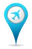 Het vliegtuigpictogram van de plaats Royalty-vrije Stock Foto's