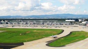 Het vliegveld van het panorama royalty-vrije stock afbeeldingen