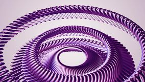 Het vloeibare bewegende roterende purpere oog van de metaalketting omcirkelt naadloze van de de motiegrafiek van de lijnanimatie  stock illustratie