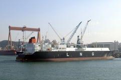 Het vloeibare LNG van de aardgastanker Stock Fotografie