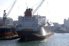 Het vloeibare LNG van de aardgastanker Royalty-vrije Stock Foto's