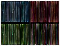 Het vloeibare organische patroon van streeplijnen over zwarte stock illustratie